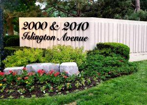 Islington 2000 & 2010 entrance sign