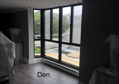 Bay window in den