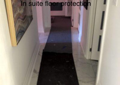 Hall floor protection